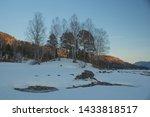 Sunset Winter Snow Nature River ...