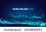 music and sound splash with... | Shutterstock .eps vector #1433830991
