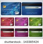 Set Of Realistic Credit Card...