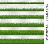green grass border and... | Shutterstock . vector #1433854787