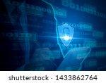 digital concept cyber security... | Shutterstock . vector #1433862764