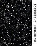 space galaxy constellation... | Shutterstock .eps vector #1433866901