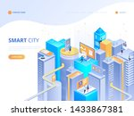 smart city isometric... | Shutterstock .eps vector #1433867381