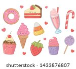sweet and delicious food design | Shutterstock .eps vector #1433876807
