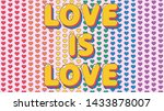 love is love romantic phrase on ... | Shutterstock .eps vector #1433878007