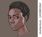 african woman face. portrait...   Shutterstock .eps vector #1433881064