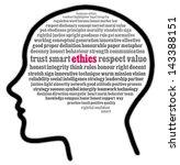 ethics in words cloud | Shutterstock . vector #143388151