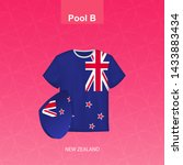 rugby jersey of new zealand... | Shutterstock .eps vector #1433883434