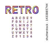 english alphabet in retro style ... | Shutterstock .eps vector #1433885744