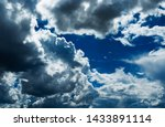 blue sky background with... | Shutterstock . vector #1433891114