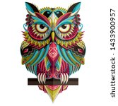 Colorful Owl Graphic Vector...