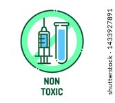 non toxic line icon. label for...