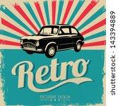 vintage car design flyer  ... | Shutterstock .eps vector #143394889