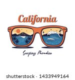 sunglasses with summer ocean... | Shutterstock .eps vector #1433949164