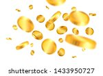 realistic gold coins explosion... | Shutterstock .eps vector #1433950727