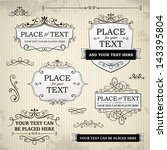vintage labels and scroll... | Shutterstock .eps vector #143395804