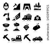 mining icons | Shutterstock .eps vector #143395921