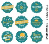 a set of nine labels for the... | Shutterstock .eps vector #143396011