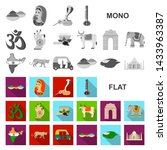 Country India Flat Icons In Set ...