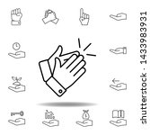 hands applause outline icon.... | Shutterstock . vector #1433983931