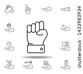 hand  knuckle outline icon. set ... | Shutterstock . vector #1433983934
