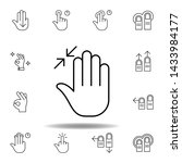 fingers in high resize gesture...