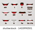 cartoon talking mouth and lips... | Shutterstock . vector #1433990501