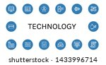 set of technology icons such as ... | Shutterstock .eps vector #1433996714