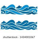 blue waves sea ocean vector...   Shutterstock .eps vector #1434001067