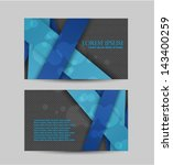 business card design | Shutterstock .eps vector #143400259