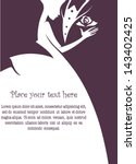 bride and groom  wedding card... | Shutterstock .eps vector #143402425