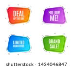 geometric banners. limited... | Shutterstock .eps vector #1434046847
