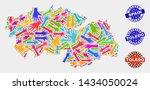 vector handmade collage of... | Shutterstock .eps vector #1434050024