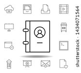 book contact phone outline icon....