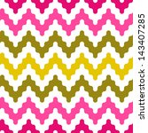 colorful zigzag geometric... | Shutterstock .eps vector #143407285