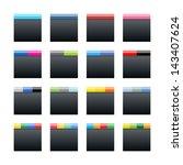 16 social networks black icon....