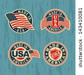 Made In America   Set Of Badge...