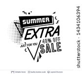 summer ad sale text in pop art... | Shutterstock .eps vector #1434106394