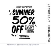 summer ad sale text in pop art... | Shutterstock .eps vector #1434106397