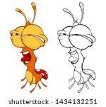 vector illustration of a cute...   Shutterstock .eps vector #1434132251