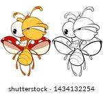 vector illustration of a cute...   Shutterstock .eps vector #1434132254