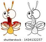 vector illustration of a cute...   Shutterstock .eps vector #1434132257