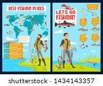 fishing sport infographics with ...   Shutterstock .eps vector #1434143357