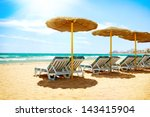 vacation concept. spain. beach... | Shutterstock . vector #143415904