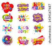 kids zone entertainment banner... | Shutterstock . vector #1434167687