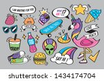 fun and colorful fashion vector ... | Shutterstock .eps vector #1434174704