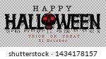 happy halloween message design...   Shutterstock .eps vector #1434178157