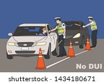 traffic police are cracking... | Shutterstock .eps vector #1434180671