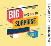 big surprise banner. vector... | Shutterstock .eps vector #1434184064