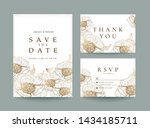 luxury wedding invitation cards ... | Shutterstock .eps vector #1434185711